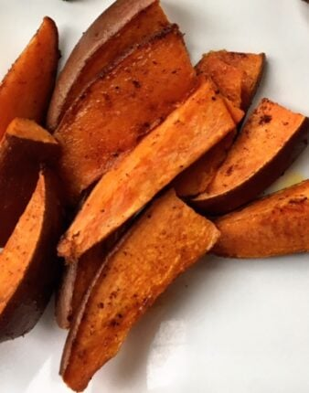 Chili Pumpkin Spice Sweet Potato Wedges