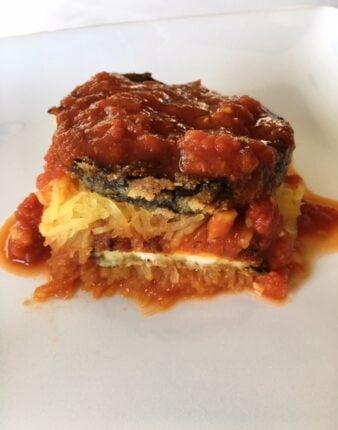 Eggplant Parm(less) Spaghetti Squash Casserole