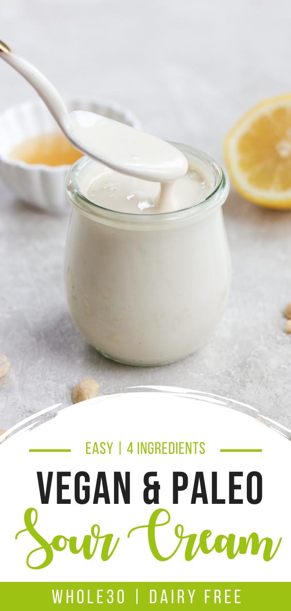 Vegan, paleo, Whole30 dairy free sour cream