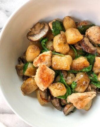 Brown Butter Sage Gnocchi with Chicken, Mushrooms & Spinach
