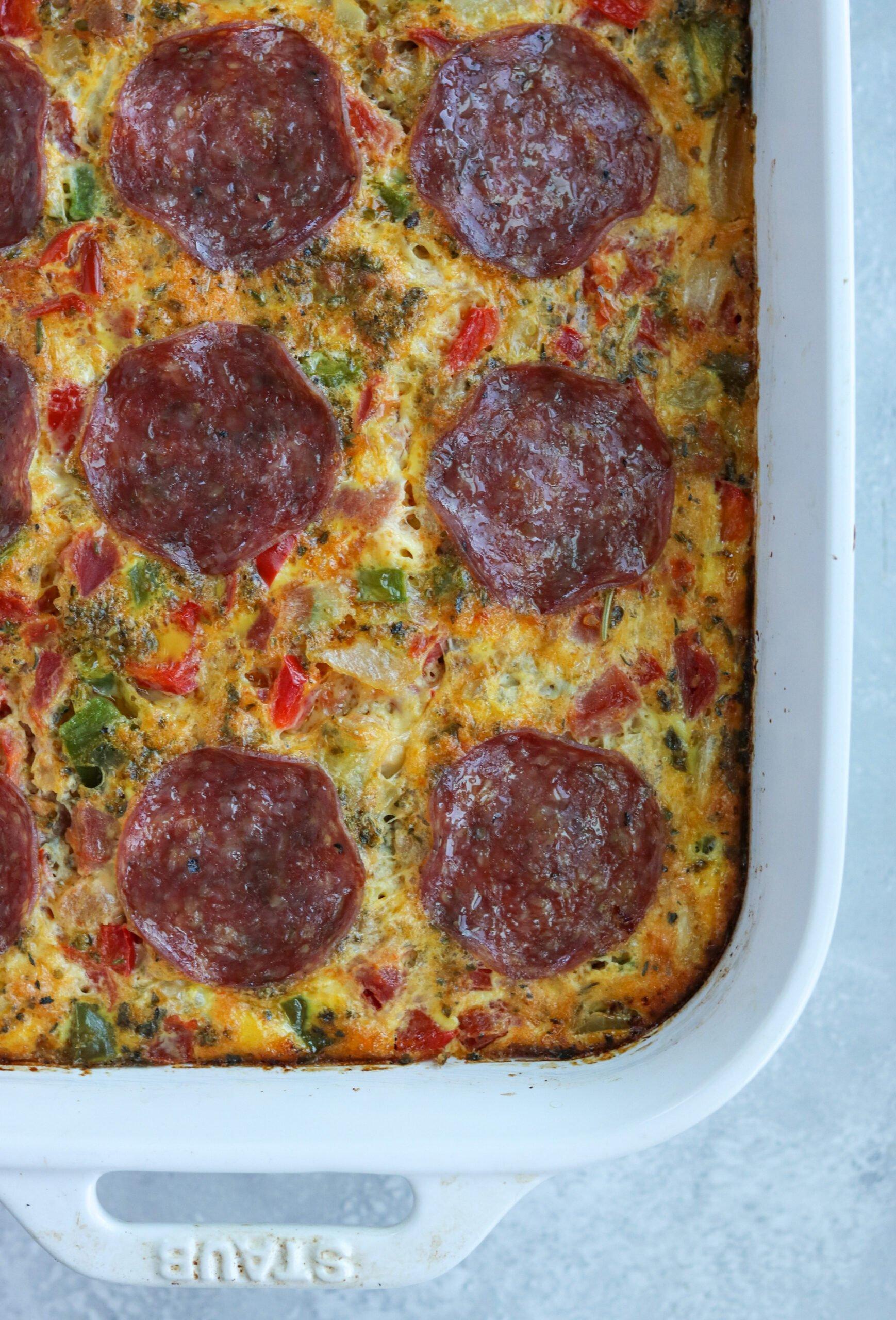 Pizza Breakfast Casserole