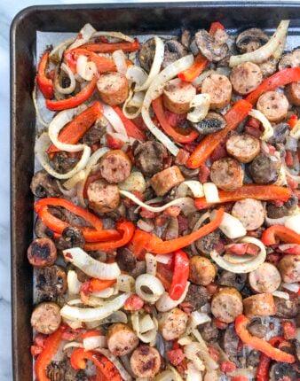 Sheet Pan Italian Sausage & Peppers