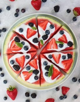 Whole30 Watermelon Pizza that is also paleo and gluten free