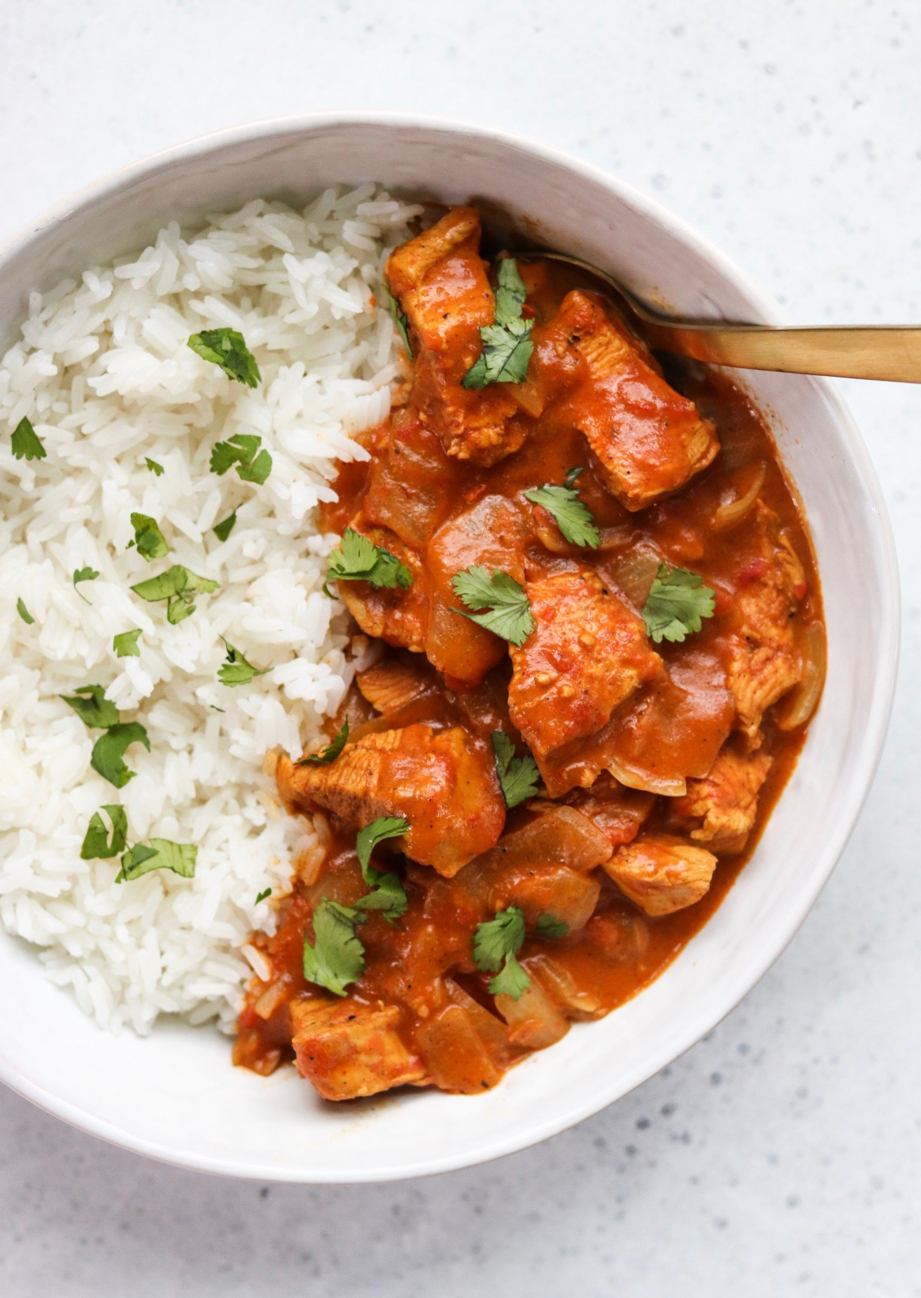 Instant Pot chicken tikka masala with rice - gluten free