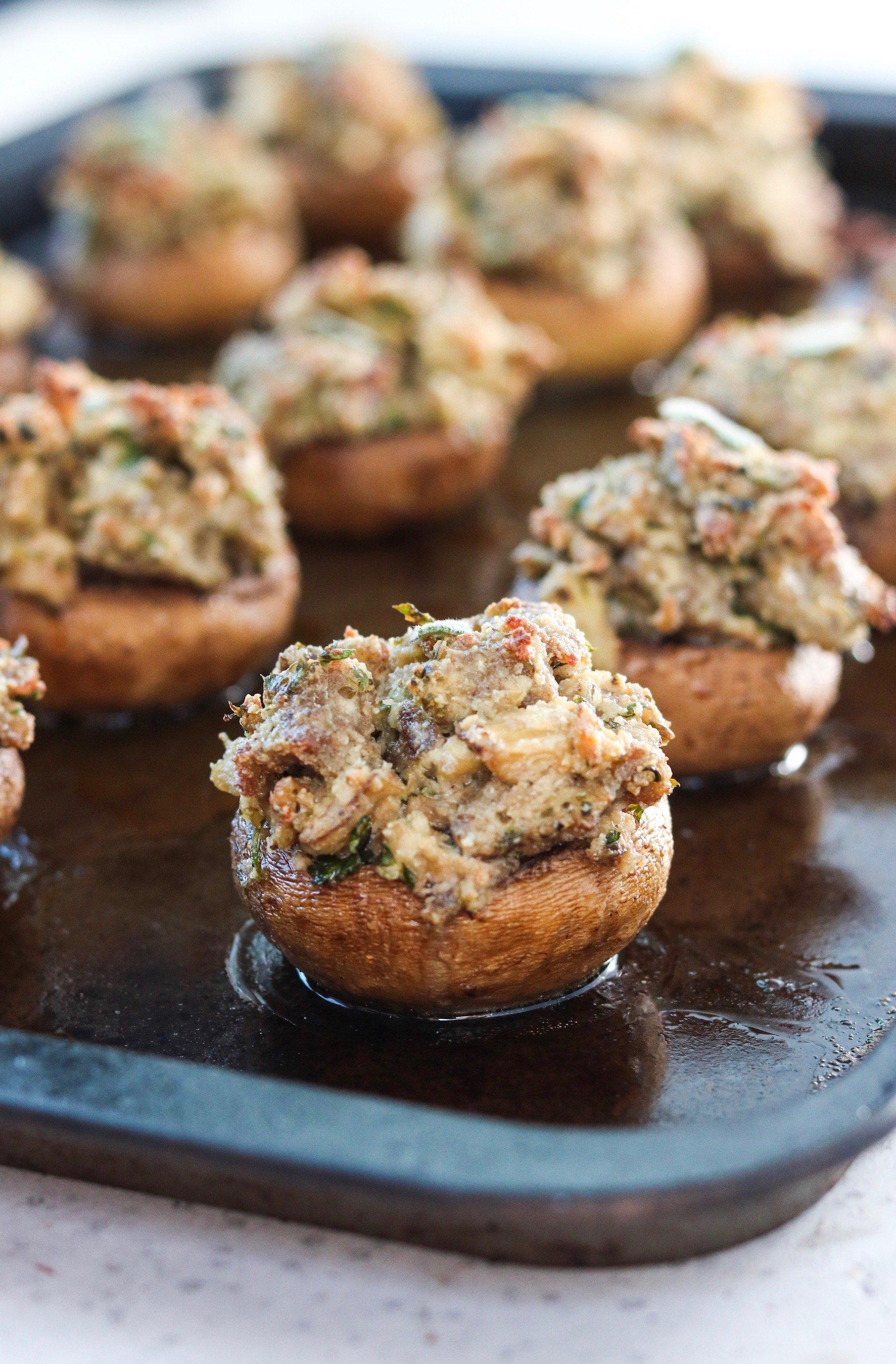 Sausage and Sage Stuffed Mushrooms