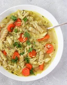 Homemade healing chicken soup