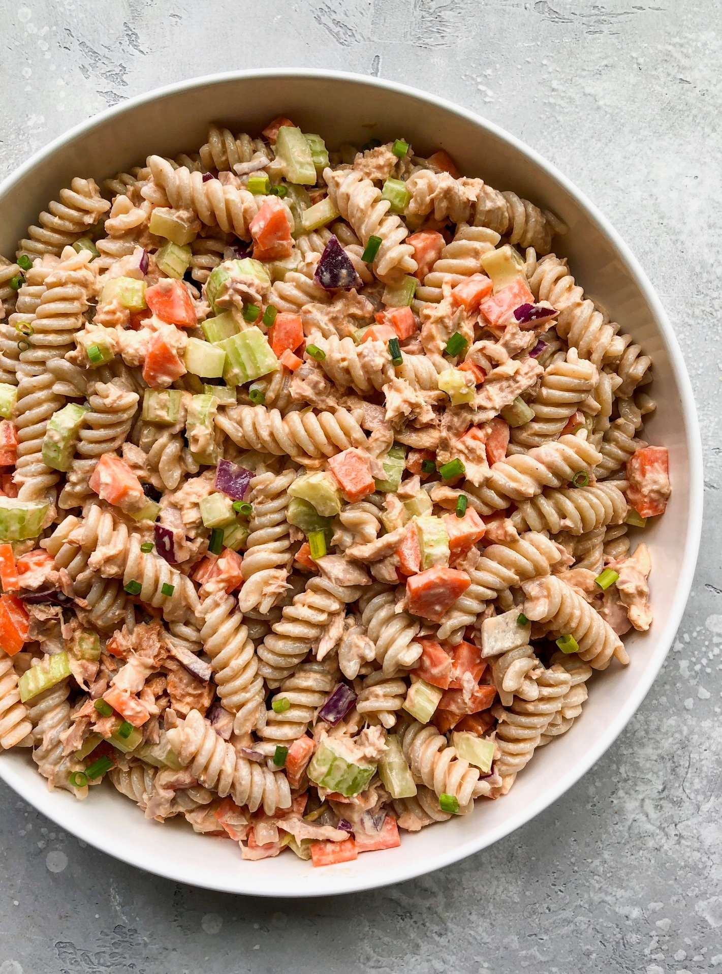Buffalo tuna pasta salad
