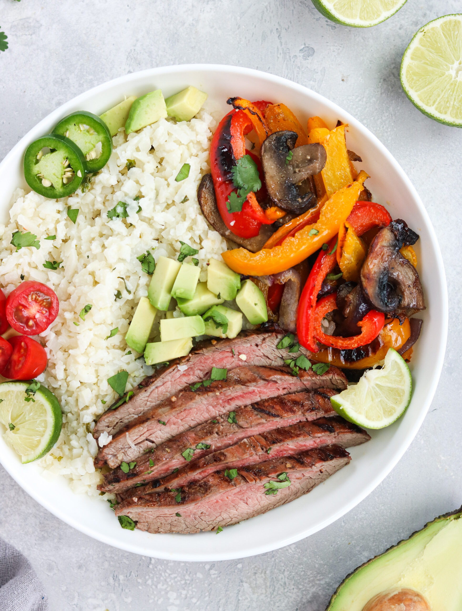 Whole30 Carne Asada Bowl