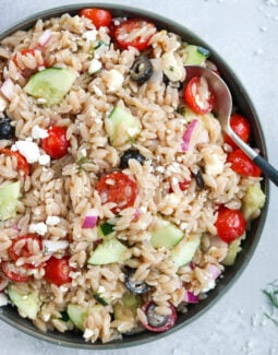 Grain Free Greek Orzo Salad