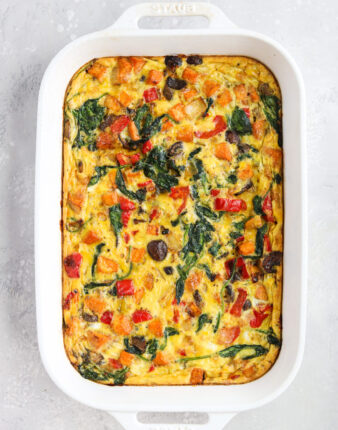Roasted Veggie Breakfast Casserole (Whole30, Paleo)