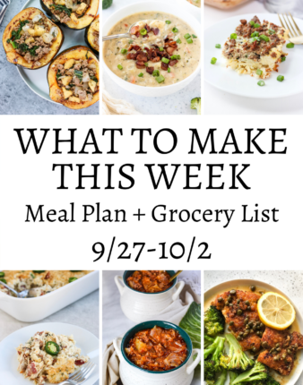 What To Make This Week – 9/27-10/2