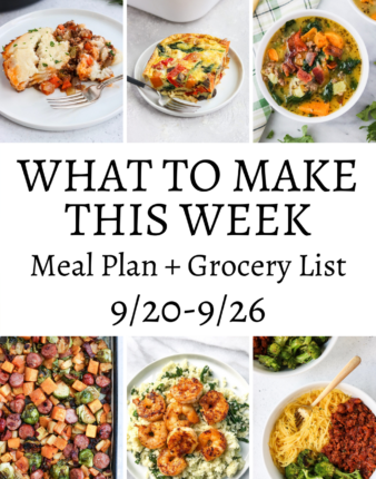 What To Make This Week – 9/20-9/26