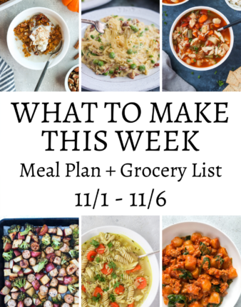 What To Make This Week 11/1 – 11/6