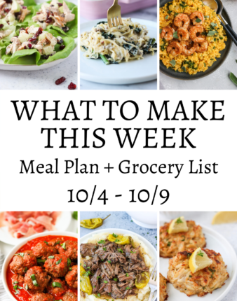 What To Make This Week – 10/4-10/9