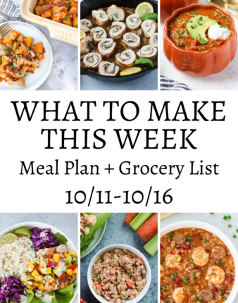 What To Make This Week – 10/11-10/16