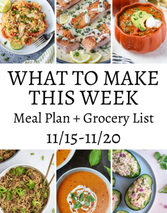 What To Make This Week – 11/15-11/20