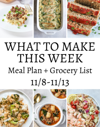 What To Make This Week – 11/8-11/13