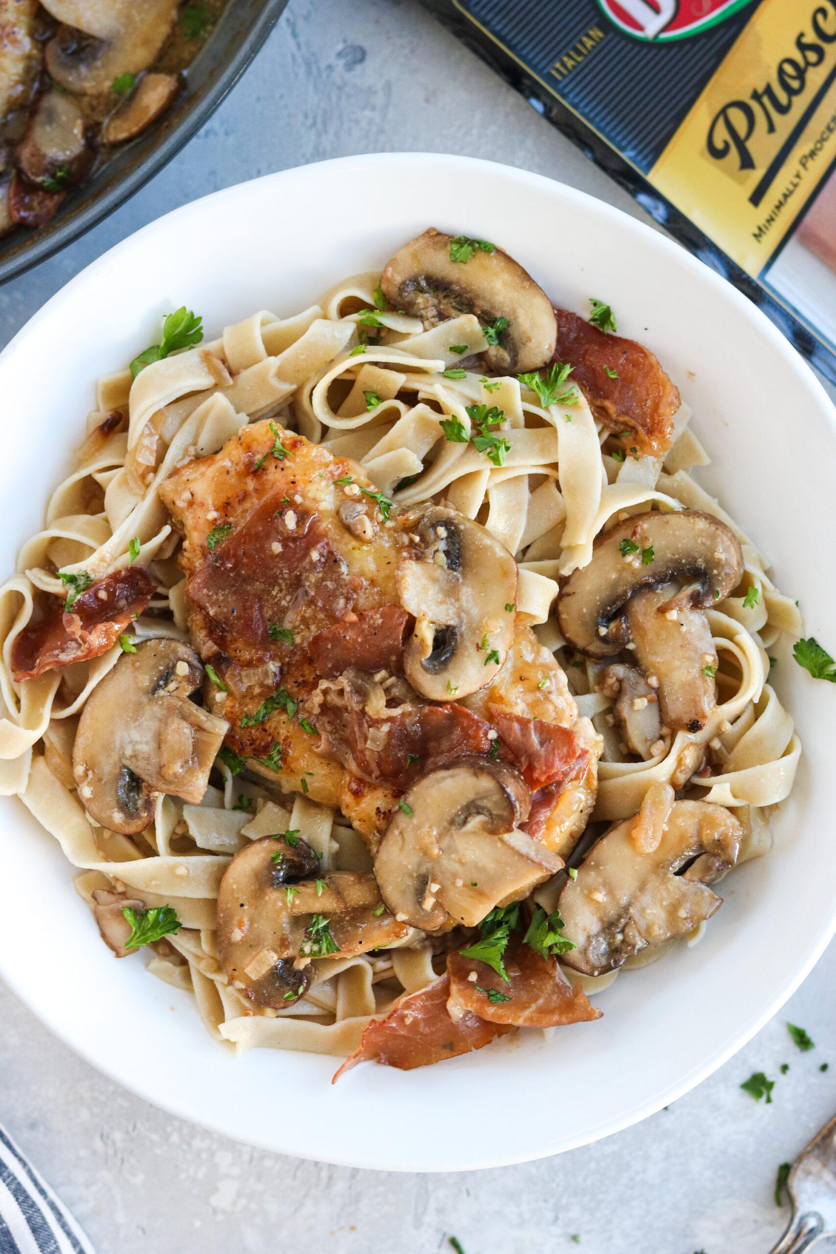 paleo chicken marsala with pasta