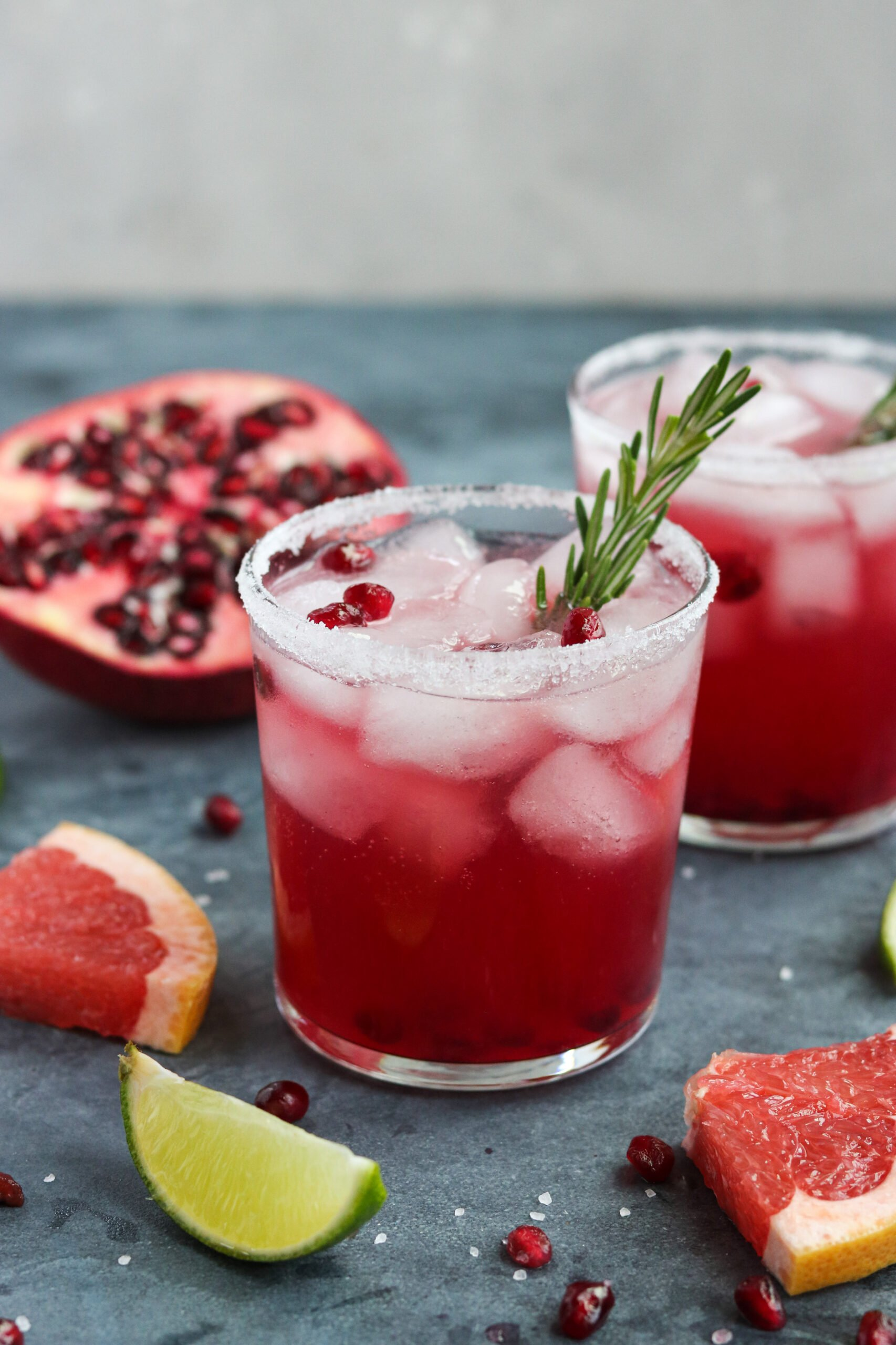 grapefruit cocktail with pomegranate