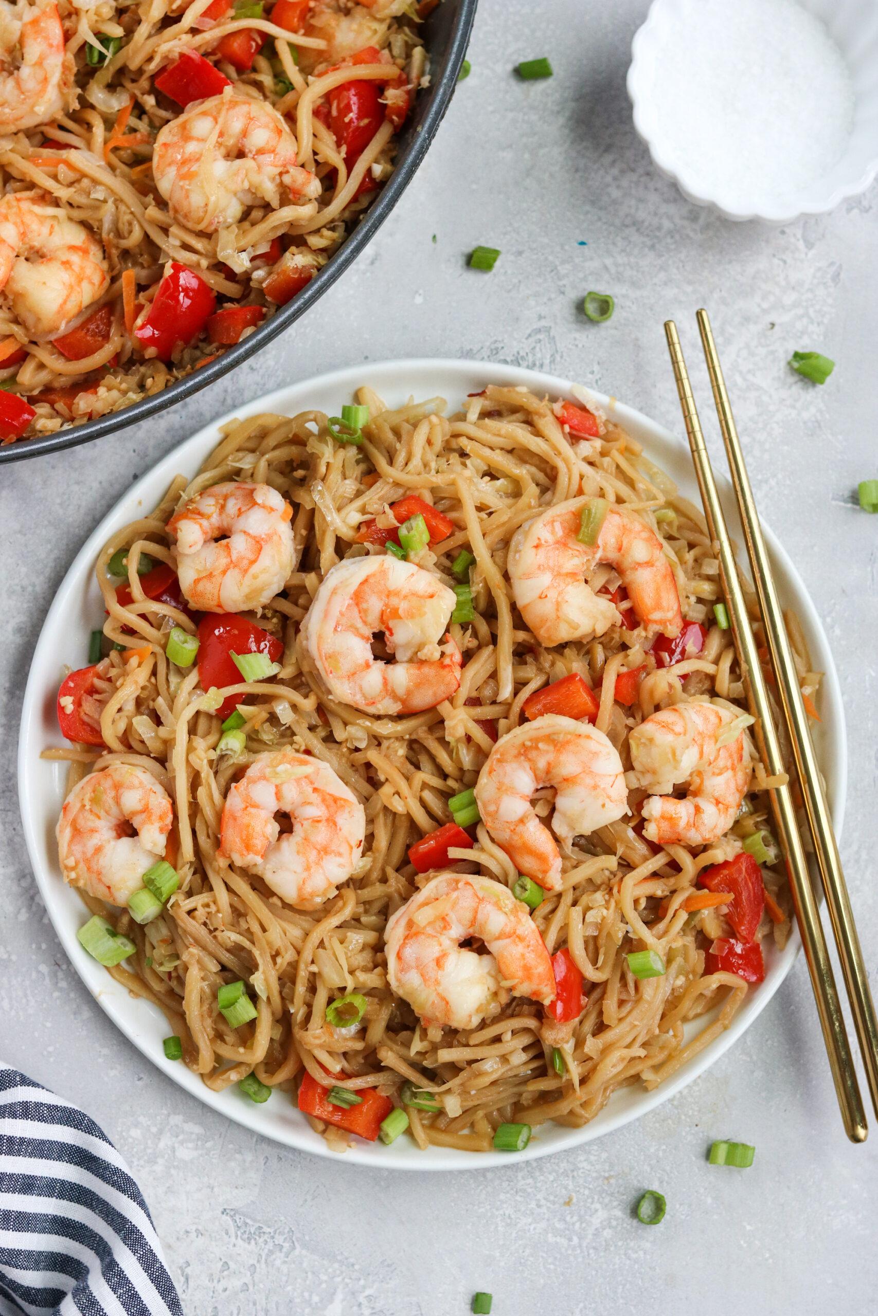 Shrimp lo mein gluten free