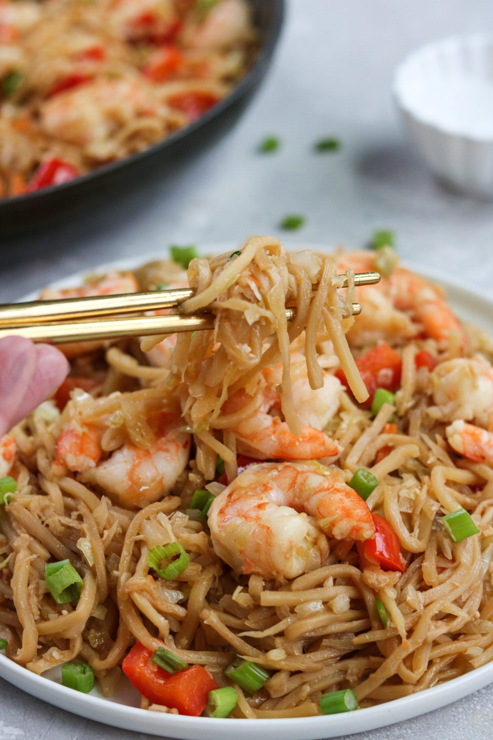 Shrimp lo mein Keto
