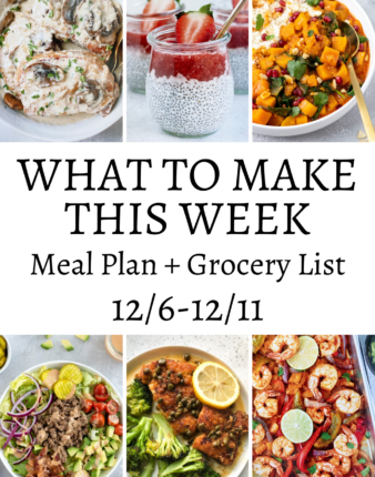 What To Make This Week 12/6-12/11