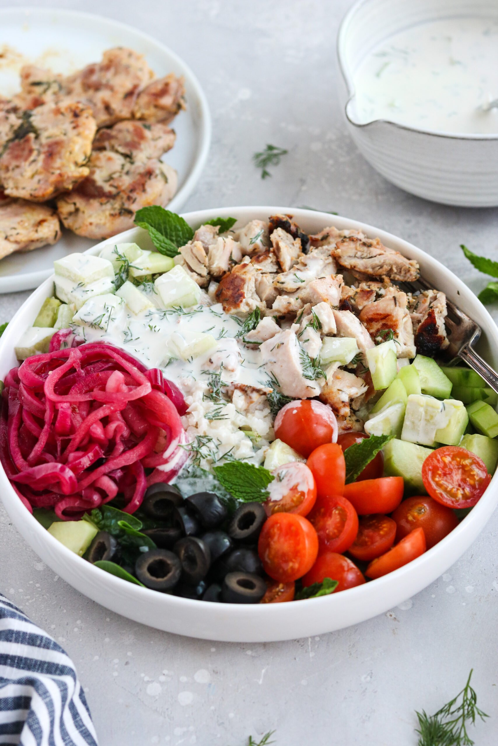 Greek chicken bowls paleo