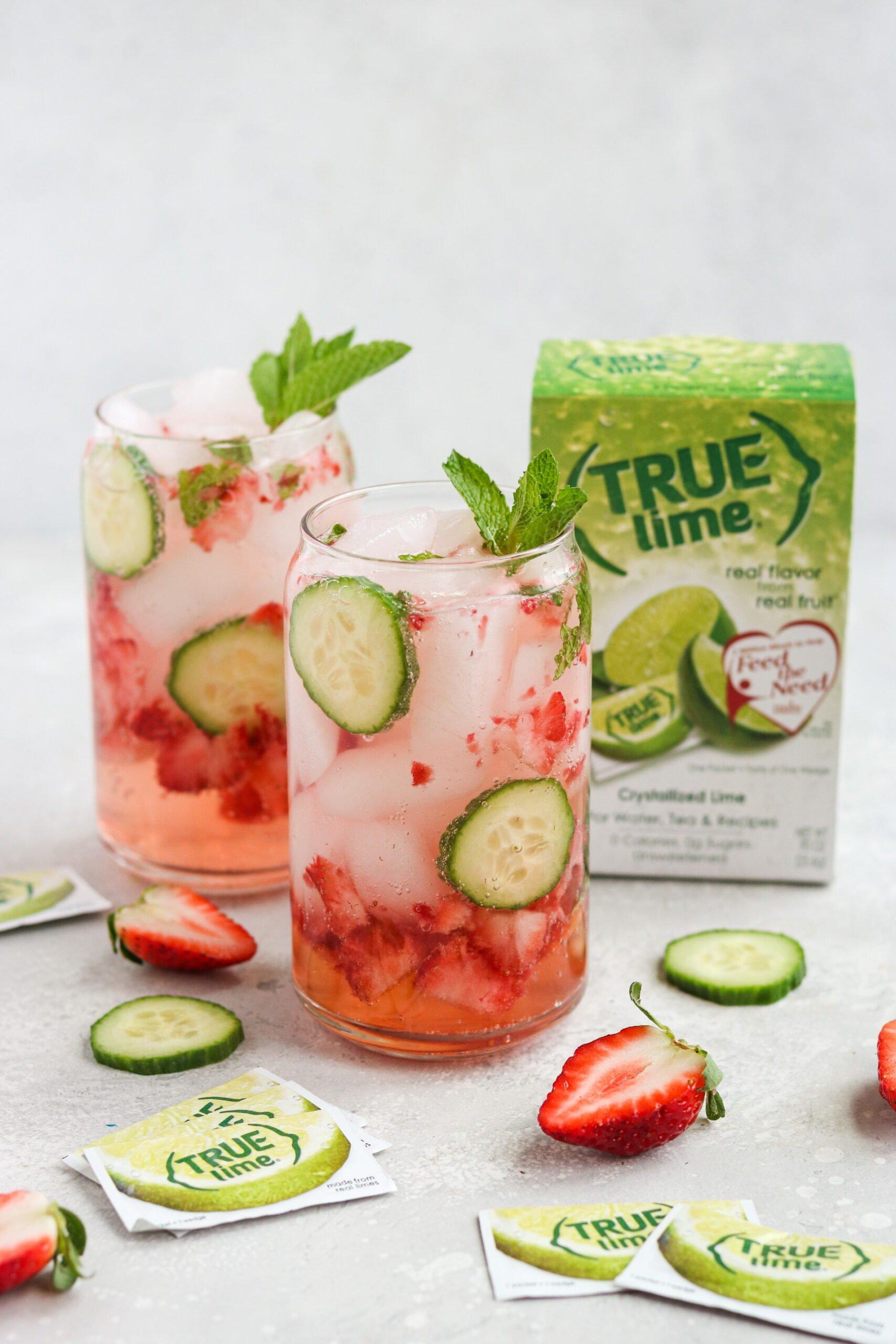 Strawberry Cucumber Mojito Mocktail