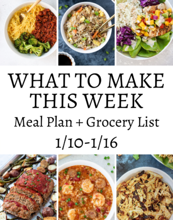 What To Make This Week 1/10-1/16
