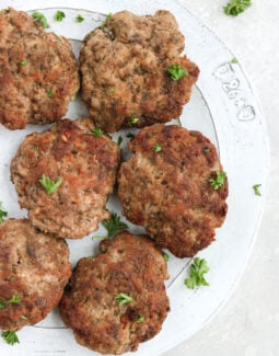 Homemade keto breakfast sausage patties