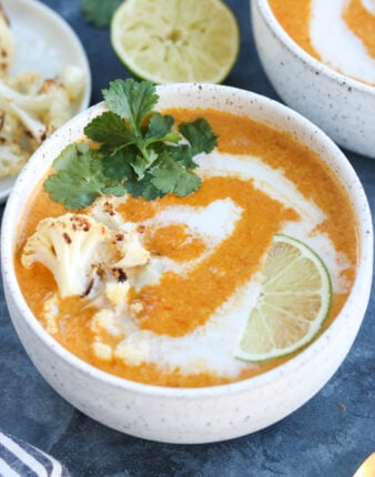 Whole30 Curried Cauliflower Carrot Soup (Vegan)