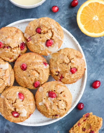 Paleo Orange Cranberry Muffins (Gluten Free)