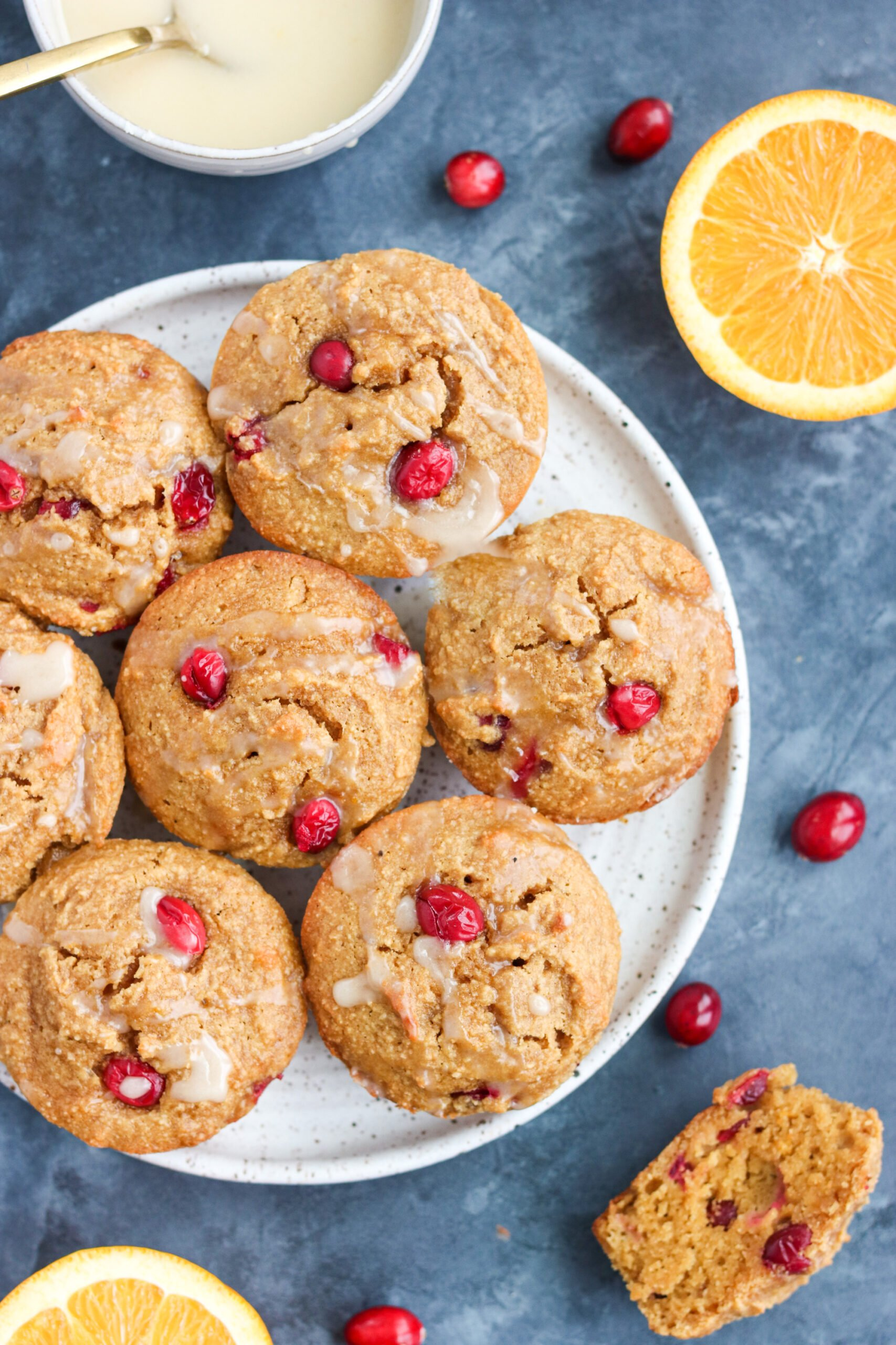 paleo orange cranberry muffins