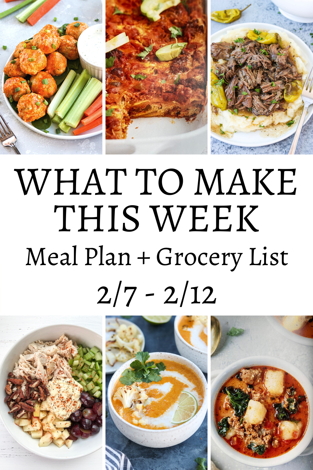 collage of food and what to make this week
