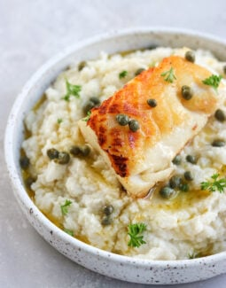 Chilean Sea Bass with Lemon Caper Butter