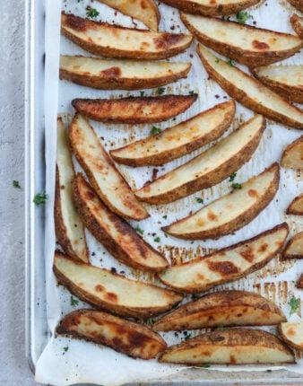 Crispy Baked Potato Wedges (Whole30, Gluten Free)