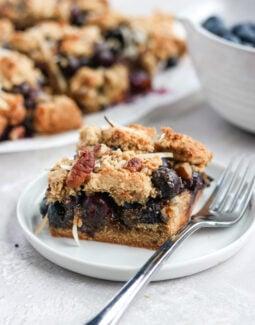 Paleo Blueberry Crumb Bars