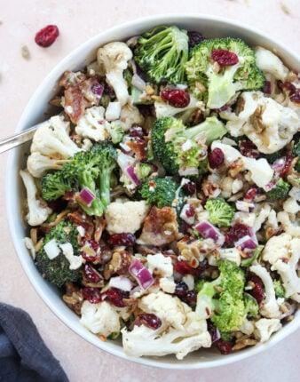 Paleo Broccoli Cauliflower Salad