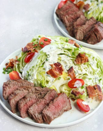 Steakhouse Wedge Salad with Homemade Ranch (Paleo)