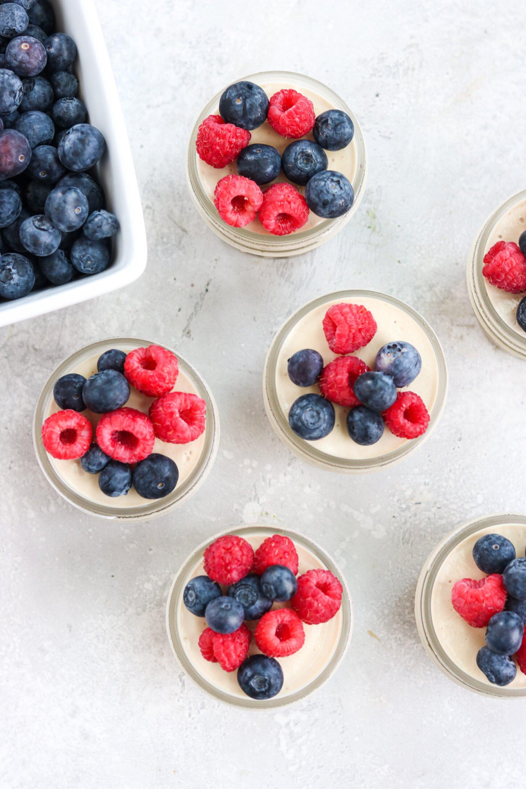 Gluten Free Dairy Free Cheesecake Jars