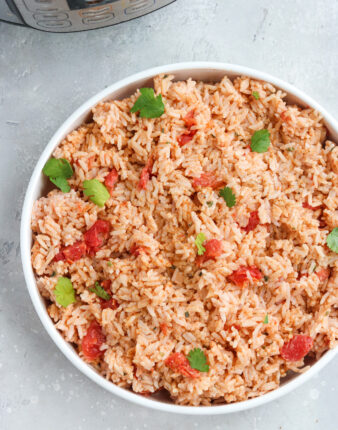 """Instant Pot Mexican """"Cheesy"""" Rice (Dairy Free, Vegan)"""