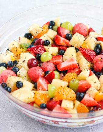 Honey Lime Poppyseed Fruit Salad