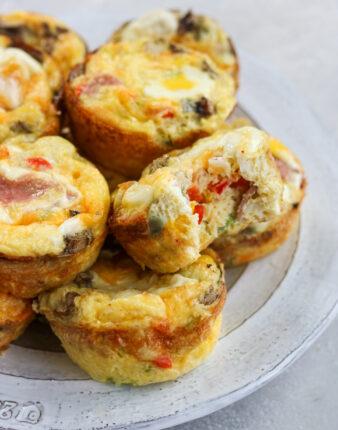 Western Omelette Egg Bites