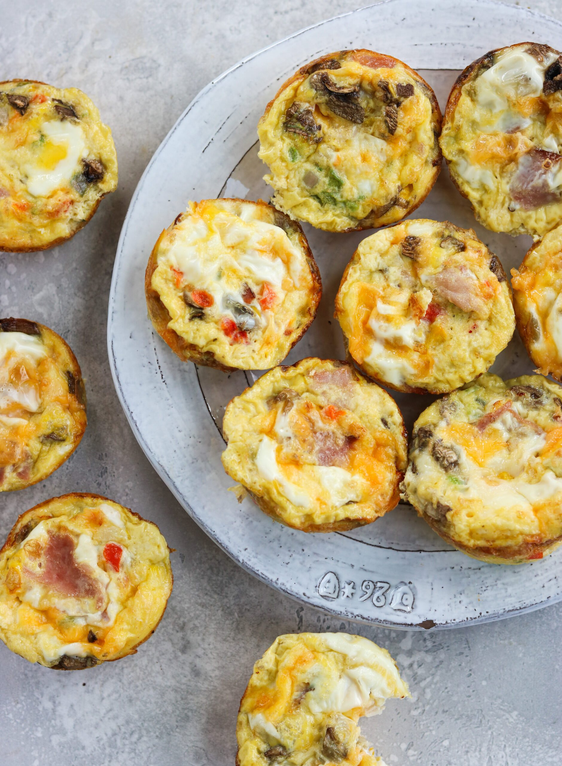 top view of Western omelette egg bites